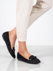 Komfortní dámské  baleríny černé bez podpatku 36