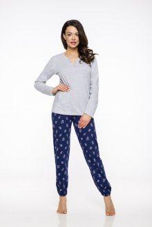 Dlouhé dámské pyžamo 2323 HIARA S-XL 2019/2020 J melanžová XL