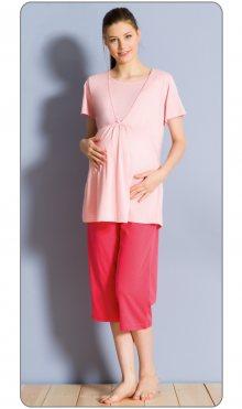 Dámské pyžamo kapri mateřské Marie lososová S