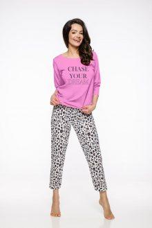 Dlouhé dámské pyžamo 2234 AGNIESZKA S-XL 2019/2020 J růžová XL