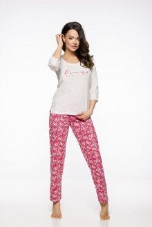 Dlouhé dámské pyžamo 2312  IRMA S-XL 2019/2020 J béžová XL