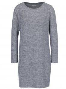 Světle šedé žíhané svetrové šaty Jacqueline de Yong Sorry