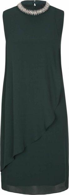 s.Oliver BLACK LABEL Šaty tmavě zelená