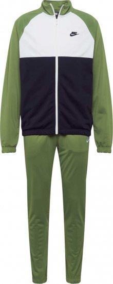 Nike Sportswear Domácí oblečení černá / zelená / bílá