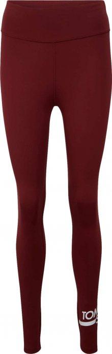 Tommy Sport Sportovní kalhoty bílá / vínově červená