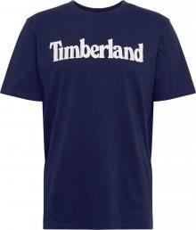 TIMBERLAND Tričko bílá / tmavě modrá