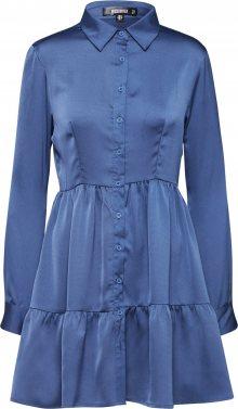 Missguided Košilové šaty tyrkysová / modrá