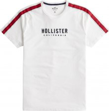 HOLLISTER Tričko bílá / červená