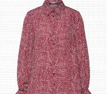 Missguided Košilové šaty \'DALMATIAN\' bílá / vínově červená