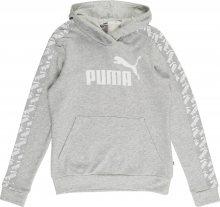 PUMA Sportovní mikina \'Amplified Hoody TR\' bílá / světle šedá
