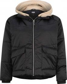 Urban Classics Zimní bunda \'Sherpa Hooded\' hnědá / černá