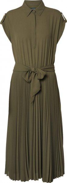 Lauren Ralph Lauren Košilové šaty olivová