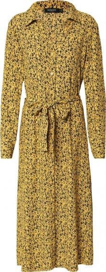 SOAKED IN LUXURY Košilové šaty \'Halima\' žlutá / černá