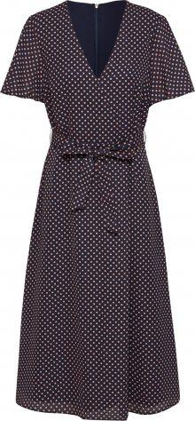 Esprit Collection Košilové šaty námořnická modř / červená