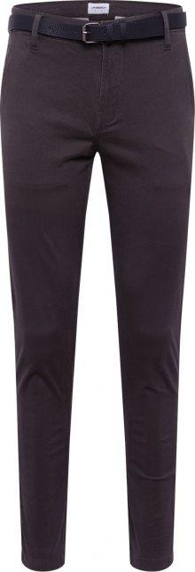 Lindbergh Chino kalhoty \'AOP chinos W. belt\' khaki