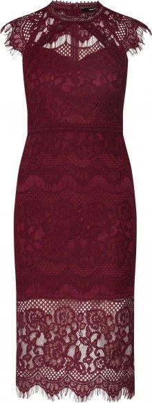 TFNC Koktejlové šaty \'YSANNE\' burgundská červeň