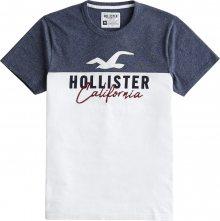 HOLLISTER Tričko \'SS CORE TECH LOGO BLOCKING\' námořnická modř