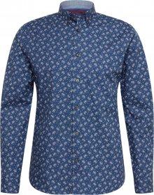 BURTON MENSWEAR LONDON Košile \'ls nvy mini leaf\' námořnická modř