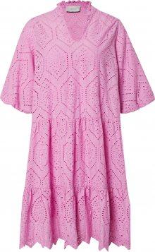Neo Noir Košilové šaty \'Kiko Embroidery\' magenta