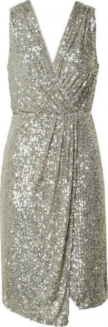 TFNC Koktejlové šaty stříbrná