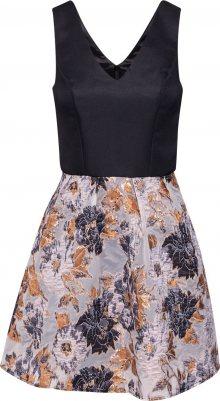Chi Chi London Koktejlové šaty \'CHI CHI INAYA DRESS\' mix barev / černá / šedá
