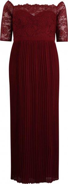 Chi Chi Curve Společenské šaty \'Whitely\' burgundská červeň
