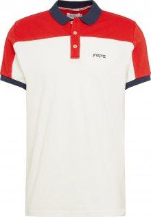 Pepe Jeans Tričko \'LLOYD\' bílá / světle červená / noční modrá