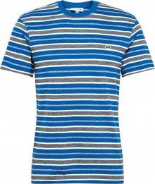 LACOSTE Tričko bílá / modrá / marine modrá
