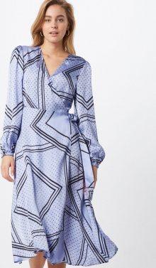 SECOND FEMALE Košilové šaty \'Isa LS\' světlemodrá