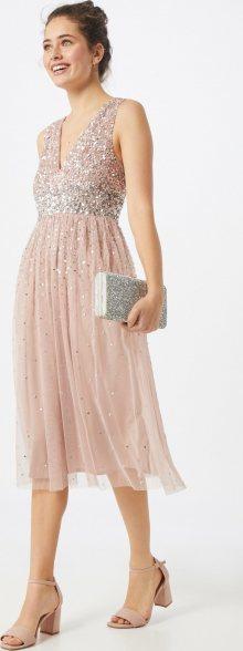 Maya Deluxe Společenské šaty růžová / stříbrná