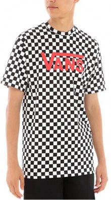 VANS Pánské triko MN Vans Classic Black White Che VN000GGGM741 XL