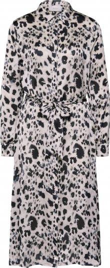 Neo Noir Košilové šaty \'Bristol Spring Leo\' offwhite / hnědá / černá