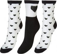 Vero Moda Sada dámských ponožek VMVALENTINE SOCK GIFTBOX Black