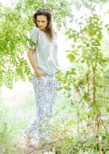 Key LHS 913 A20 Dámské pyžamo  M šedá-bílá