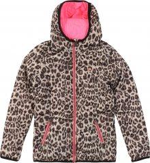 VINGINO Zimní bunda \'Tionne\' hnědá / svítivě růžová