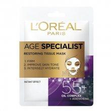 L´Oréal Paris Textilní maska pro intenzivní vypnutí a rozjasnění pleti Age Specialist 55+ (Restoring Tissue Mask) 1 ks