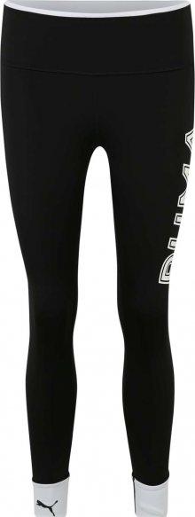 PUMA Sportovní kalhoty bílá / černá