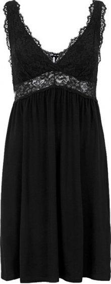 Pieces Dámská noční košilka PCJASMIN NIGHT DRESS Black S
