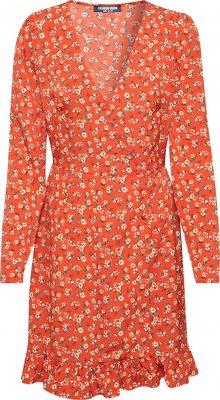Fashion Union Šaty \'NATTIE\' oranžová / oranžově červená