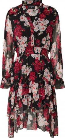 The Kooples Košilové šaty pink / černá