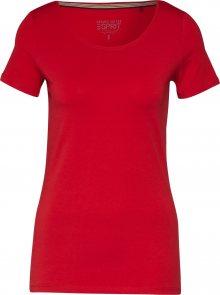 ESPRIT Tričko \'CORE NOOS\' červená