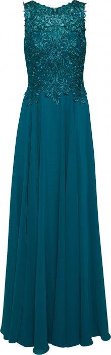 LUXUAR Společenské šaty smaragdová