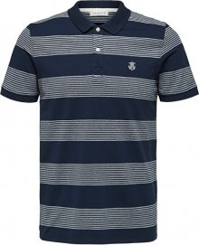 SELECTED HOMME Pánské polo triko SLHARO EXCLUSIVE SS POLO W Dark Sapphire Twisted Egret L