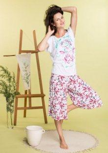 Key LNS 505 2 A20 dámské pyžamo L bílá-mix barva