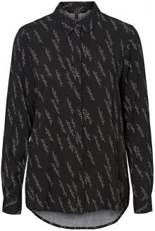 Vero Moda Dámská košile VMGUNHILD LS SHIRT WVN GA Black AOP.GUNHILD M