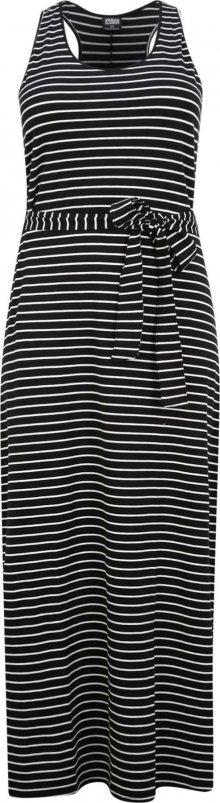 Urban Classics Curvy Letní šaty bílá / černá