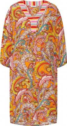 Frogbox Letní šaty žlutá / světlemodrá / oranžová / pink
