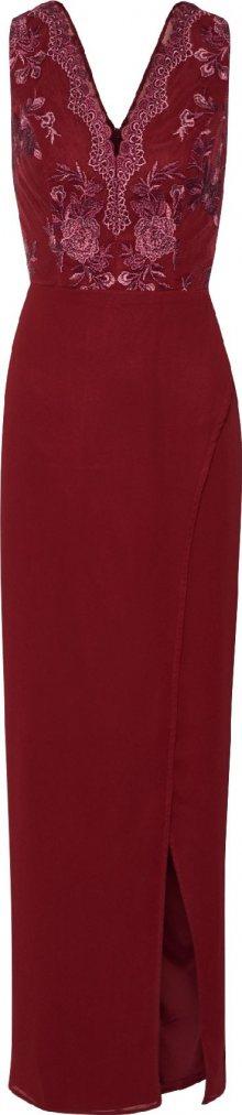 Chi Chi London Společenské šaty \'Chi Chi Thalia Dress\' burgundská červeň
