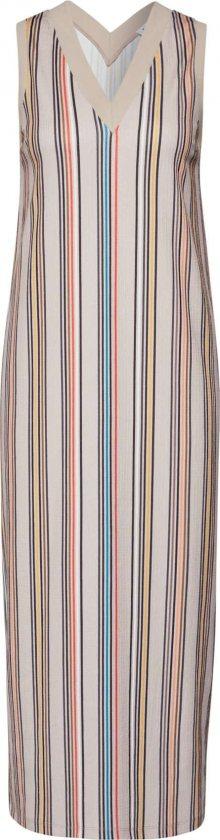 EDITED Letní šaty \'Shaila\' modrá / béžová / červená
