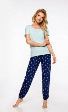 Taro Eli 2324 \'20 Dámské pyžamo S světle modrá-tmavě modrá